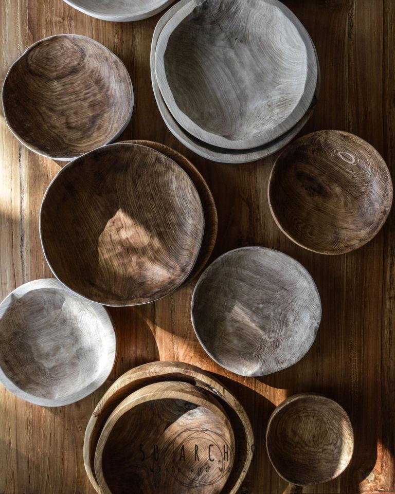 drevené misy