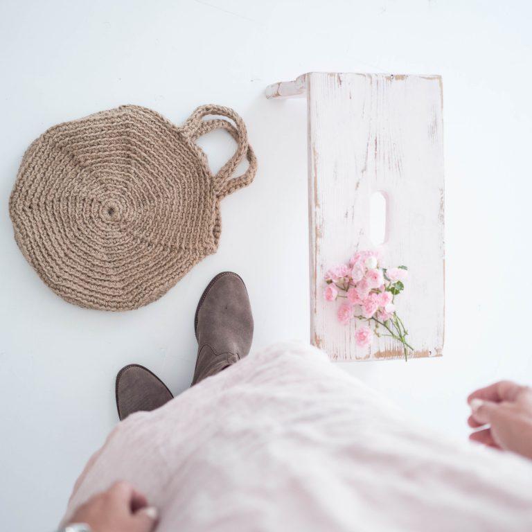 ružové šaty ľanové
